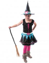 Déguisement sorcière technicolore fille Halloween
