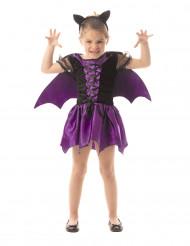 Déguisement chauve-souris violette fille Halloween