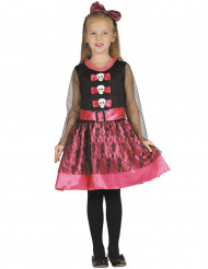 Déguisement squelette girly rose fille Halloween
