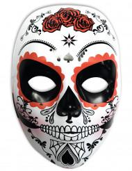 Masque blanc Dia de los muertos femme
