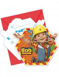 6 Cartes d'invitation et enveloppes Bob the builder ™