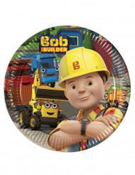 8 Petites assiettes en carton 20cm Bob the builder™