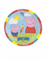 8 Petites assiettes en carton Peppa Pig ™