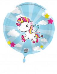 Ballon aluminium Petite Licorne 45 cm