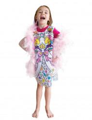 Robe lavable à colorier princesse fille