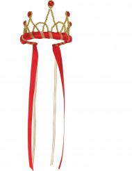 Couronne reine médiévale rouge fille