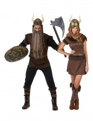Déguisement de couple Viking adulte