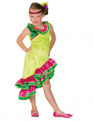 Déguisement danseuse rumba jaune fille
