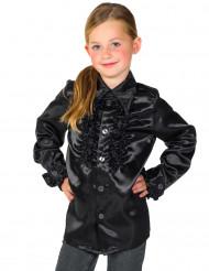 Chemise noire avec froufrous enfant