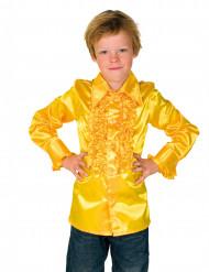Chemise jaune avec froufrous enfant