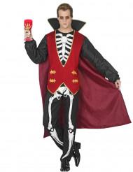 Déguisement vampire squelette homme Halloween