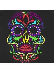 20 Serviettes en papier squelette coloré Dia de los muertos 33 x 33 cm