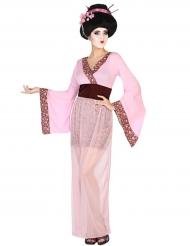 Déguisement geisha rose femme