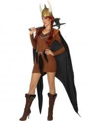 Déguisement chef de tribu viking femme