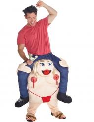 Déguisement homme porté par danseuse gogo adulte Morphsuits™