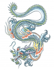 Tatouage ephémere corps dragon adulte