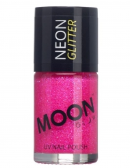 Vernis à ongles fuschia avec paillettes phosphorescent adulte Moonglow ©