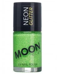 Vernis à ongles vert avec paillettes phosphorescent adulte Moonglow ©