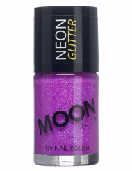 Vernis à ongles violet avec paillettes phosphorescent adulte Moonglow ©