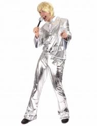 Déguisement Disco Argent brillant Homme
