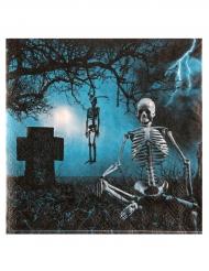 10 Serviettes en papier Nuit d'horreur 33 x 33 cm