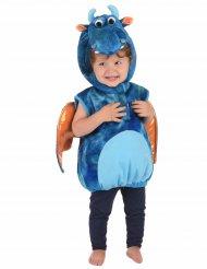 Déguisement dragon bleu et orange enfant