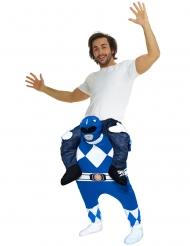Déguisement homme porté par Power Rangers™ bleu adulte Morphsuits™