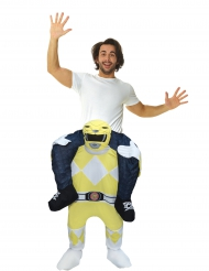 Déguisement homme porté par Power Rangers™ jaune adulte Morphsuits™