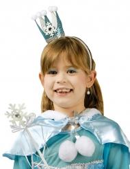 Baguette et couronne princesse cristal glacé bleu fille