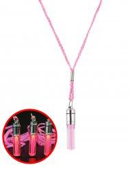 Collier lumineux rose 5 cm