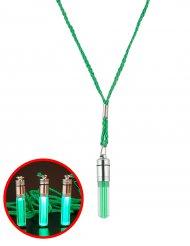 Collier lumineux vert 5 cm