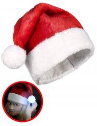Bonnet avec pompom lumineux Noël