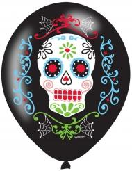 6 Ballons latex Dia de los muertos