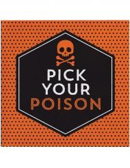 16 Serviettes en papier Halloween Pick your poison 33 x 33 cm
