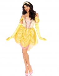 Déguisement princesse magique jaune femme