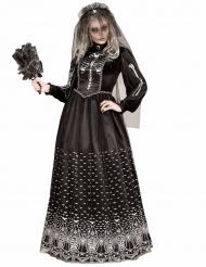 Déguisement squelette gothique noir femme Halloween