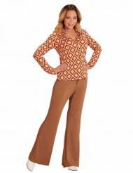 Chemise groovy rétro années 70 femme
