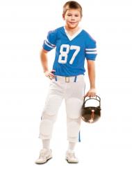 Déguisement joueur de football américain bleu garçon