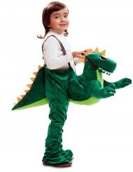 Déguisement aventurier à dos de dinosaure garçon