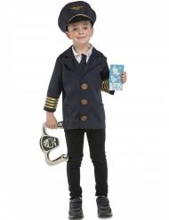 Déguisement pilote d'avion avec accessoires enfant