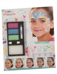 Maquillage princesse arc-en-ciel fille