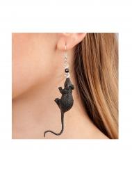 Boucles d'oreilles souris adulte