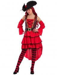 Déguisement corsaire rouge femme