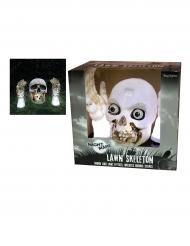 Décoration lumineuse et sonore squelette sortant du sol Halloween