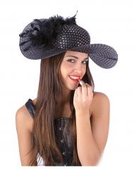Chapeau élégant noir femme