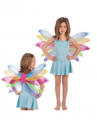 Ailes papillon multicolore fillle