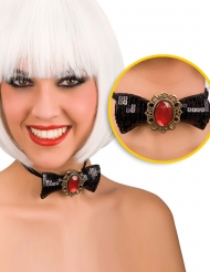 Noud papillon  avec diamant rouge adulte halloween