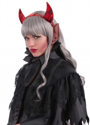 Oreilles rouges adulte Halloween