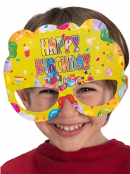 6 Masques en papier Happy Birthday
