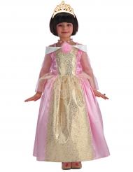 Déguisement princesse rose et dorée fille
